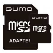 MICRO SDHC (Trans Flash) 8Gb Qumo (class 6)+адаптер * Карта памяти