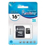 MICRO SDHC (Trans Flash) 16Gb Smart Buy (class 10) * Карта памяти