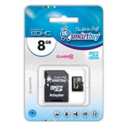 MICRO SDHC (Trans Flash) 8Gb Smart Buy (class 10) * Карта памяти