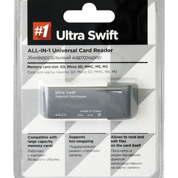 USB 2.0 Defender Ultra Swift 4 слота * Карт-ридер