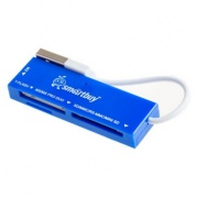 USB Smart Buy SBR-717 Blue * Карт-ридер