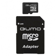 MICRO SDHC (Trans Flash) 8Gb Qumo (class 10)+адаптер * Карта памяти