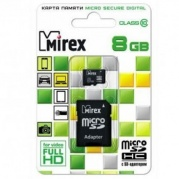 MICRO SDHC (Trans Flash) 8Gb MIREX (class 10) * Карта памяти