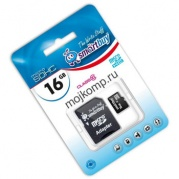MICRO SDHC (Trans Flash) 16Gb Smart Buy (class 10)+адаптер * Карта памяти